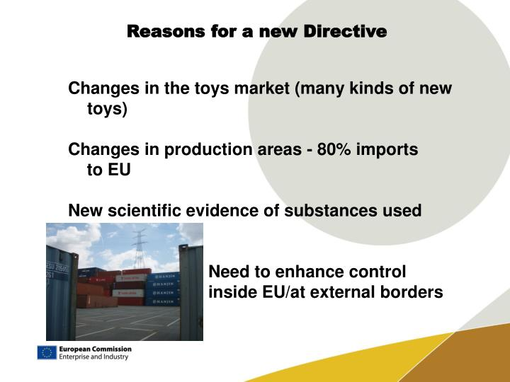 Reasons for a new Directive