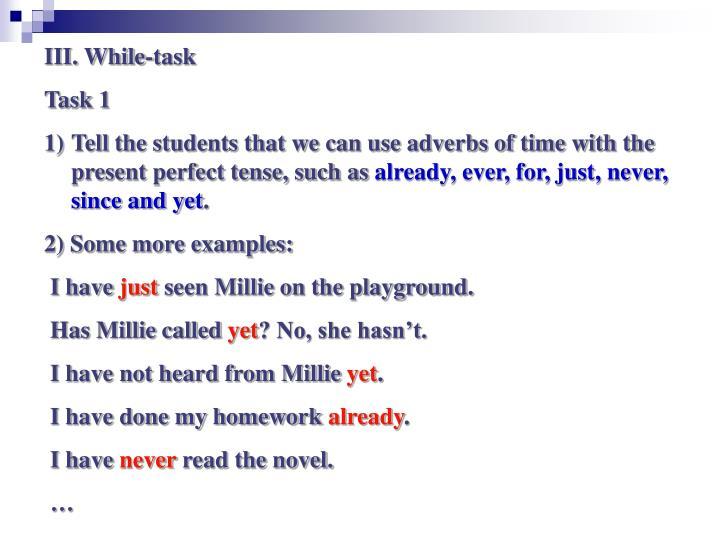 III. While-task