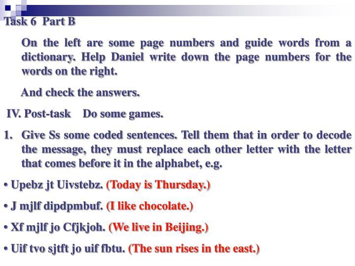 Task 6  Part B