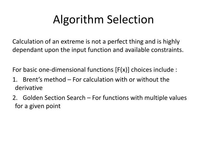 Algorithm Selection