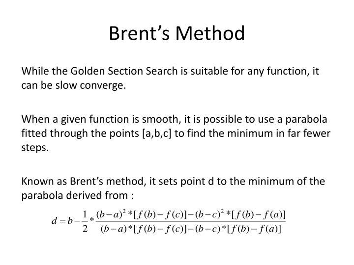 Brent's Method