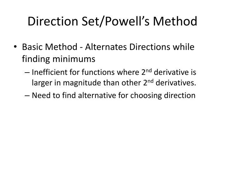 Direction Set/Powell's Method
