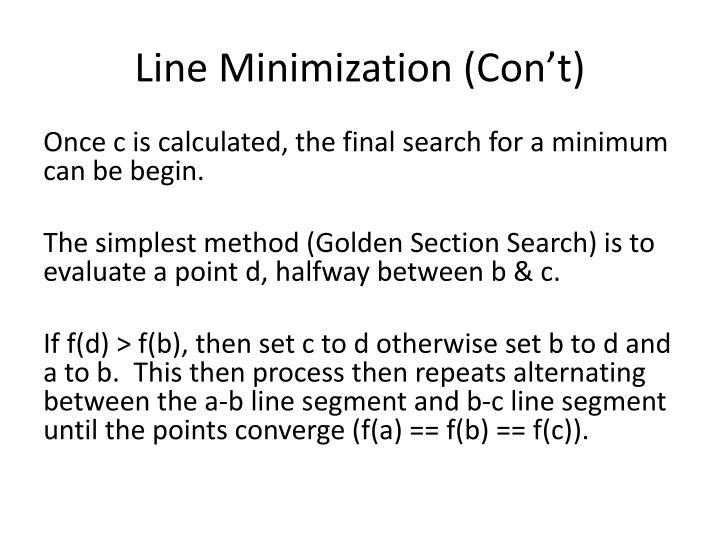 Line Minimization (