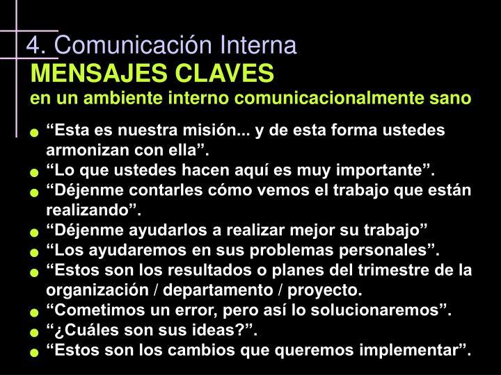 4. Comunicación Interna