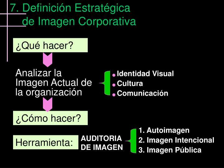 7. Definición Estratégica