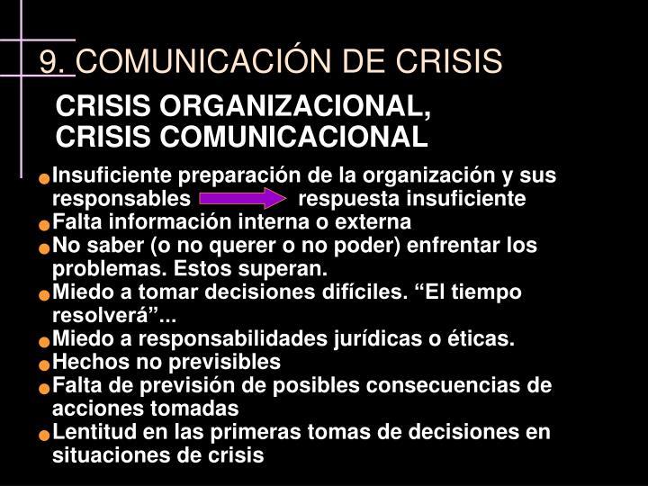 CRISIS ORGANIZACIONAL,