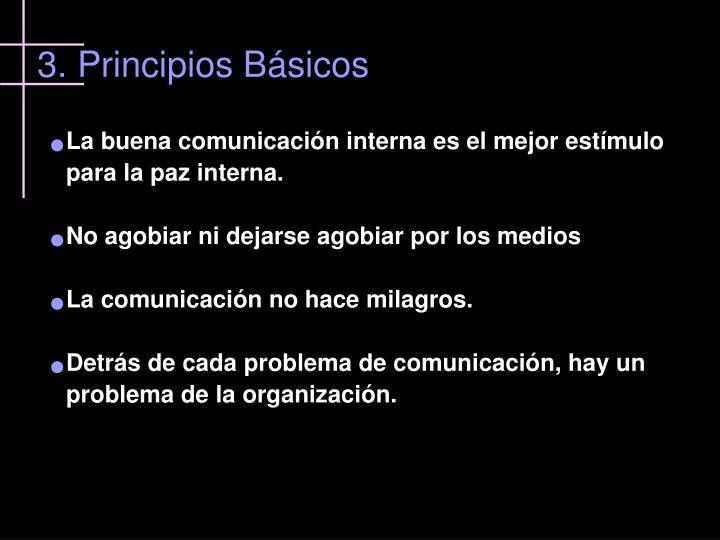 3. Principios Básicos