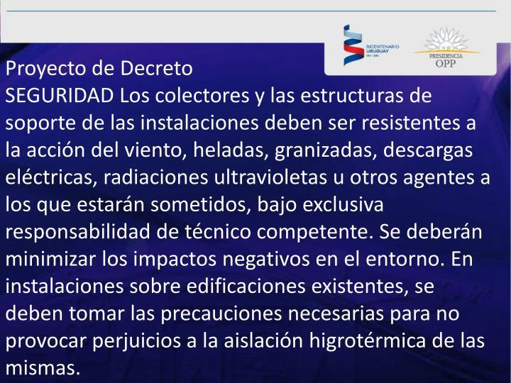 Proyecto de Decreto
