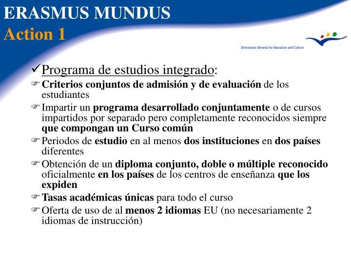 Programa de estudios integrado