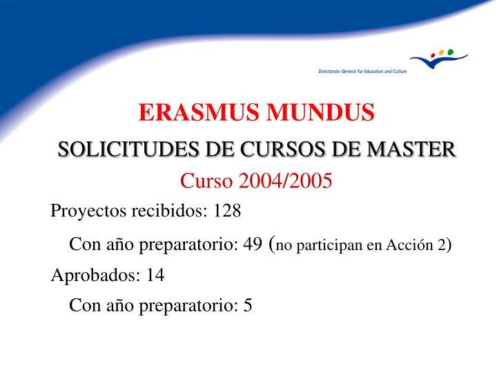 SOLICITUDES DE CURSOS DE MASTER