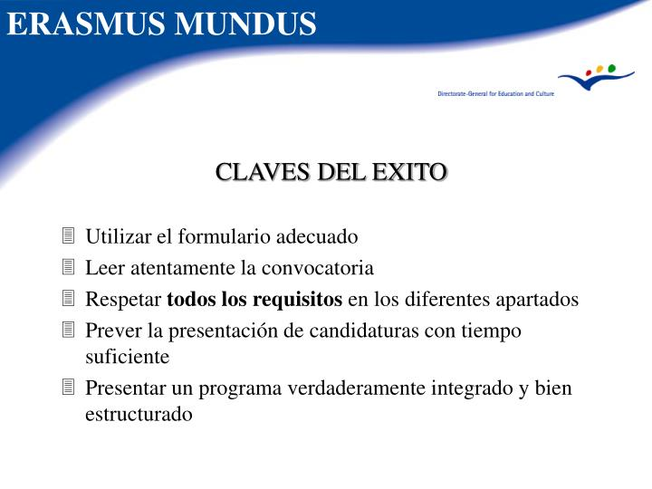 CLAVES DEL EXITO