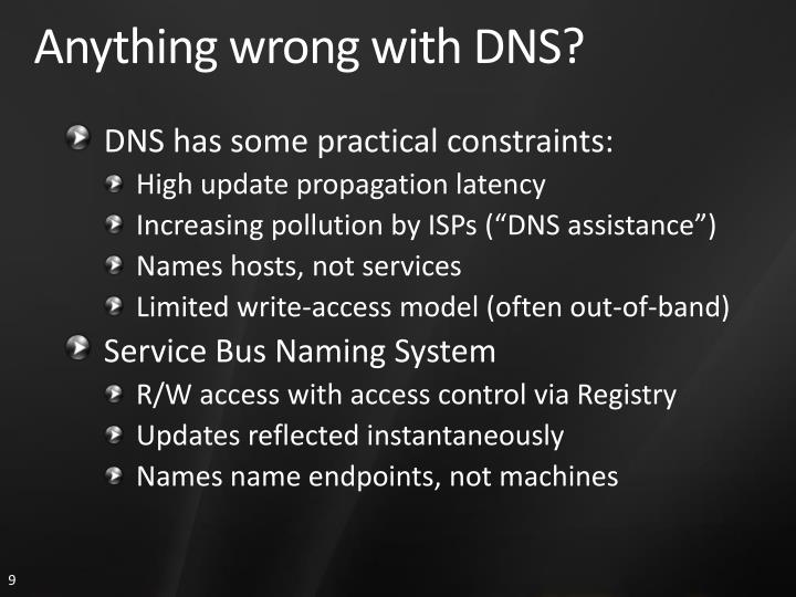 Anything wrong with DNS?