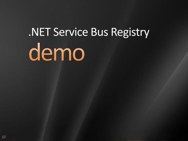 .NET Service Bus Registry