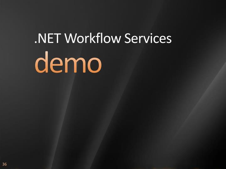 .NET Workflow Services