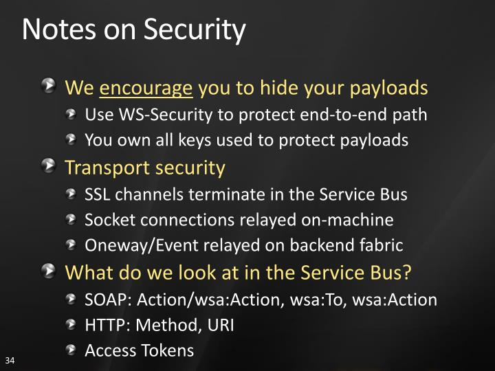 Notes on Security