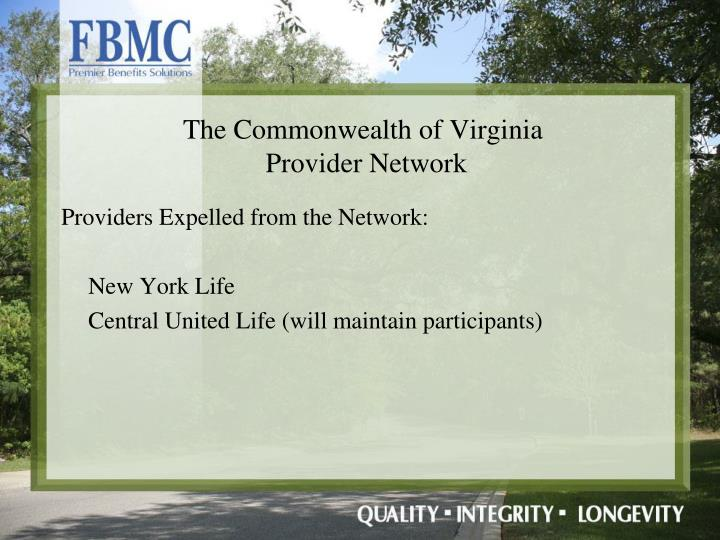 Providers Expelled from the Network: