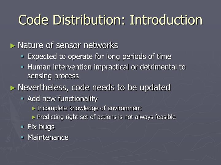 Code Distribution: Introduction