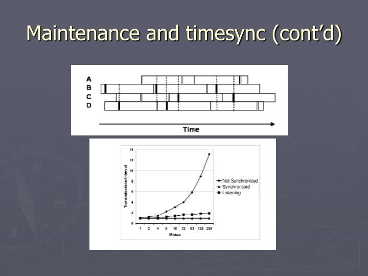 Maintenance and timesync (cont'd)