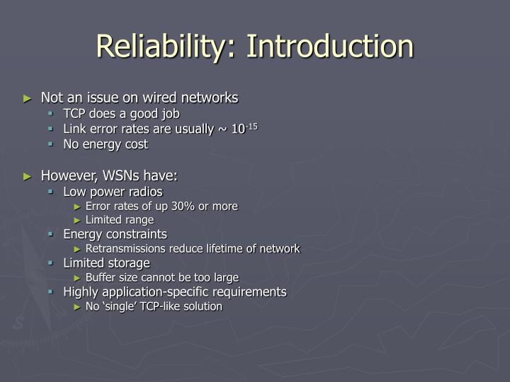 Reliability introduction
