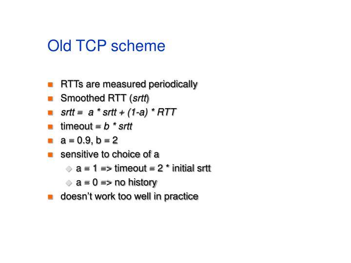 Old TCP scheme