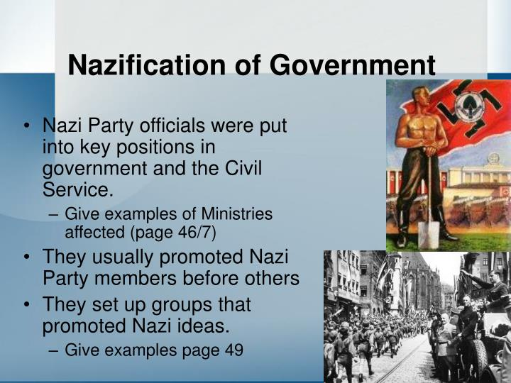 Nazification of Government