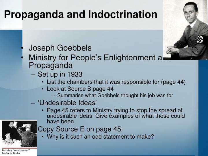 Propaganda and Indoctrination