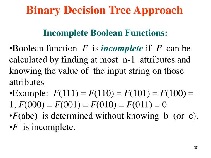 Incomplete Boolean Functions: