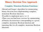 binary decision tree approach12