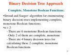 binary decision tree approach13