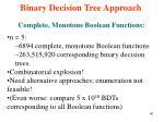 binary decision tree approach16