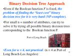 binary decision tree approach7