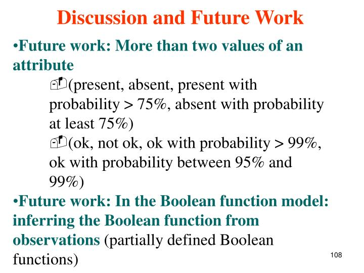 Future work: More than two values of an attribute