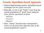genetic algorithms based approach1
