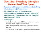 new idea searching through a generalized tree space