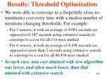 results threshold optimization1
