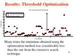 results threshold optimization2