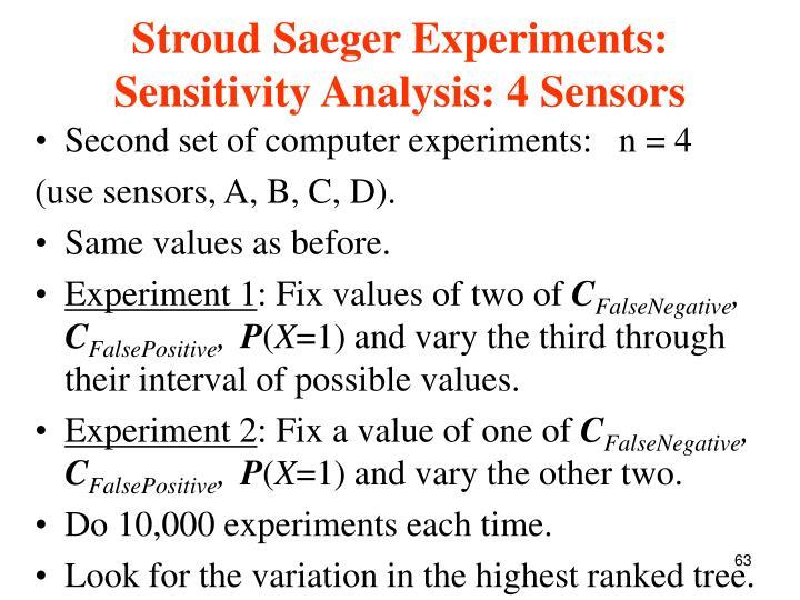 Stroud Saeger Experiments: Sensitivity Analysis: 4 Sensors