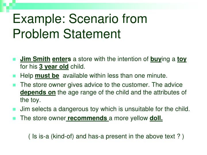 Example: Scenario from Problem Statement