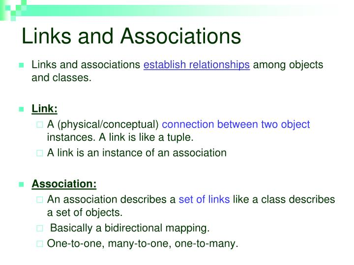 Links and Associations