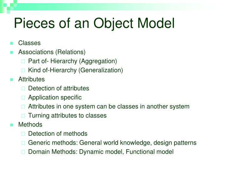 Pieces of an Object Model