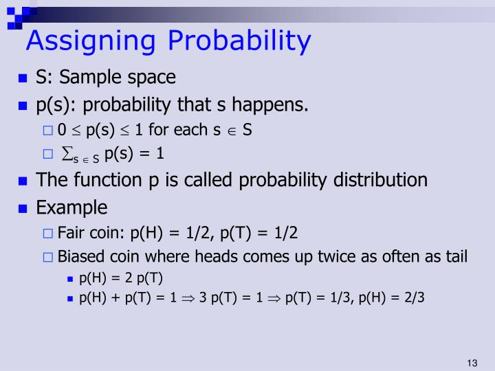 Assigning Probability