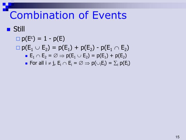Combination of Events