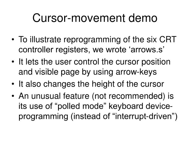 Cursor-movement demo