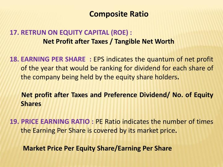 Composite Ratio
