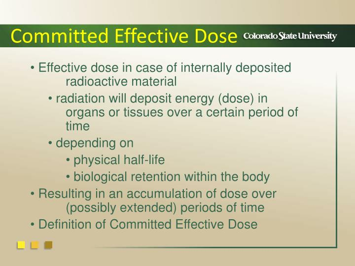 Committed Effective Dose