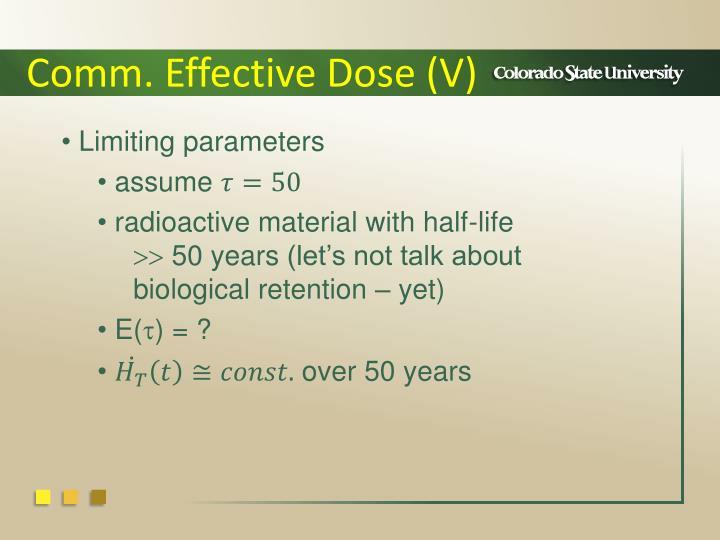 Comm. Effective Dose (V)