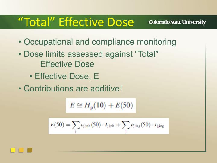 """""""Total"""" Effective Dose"""