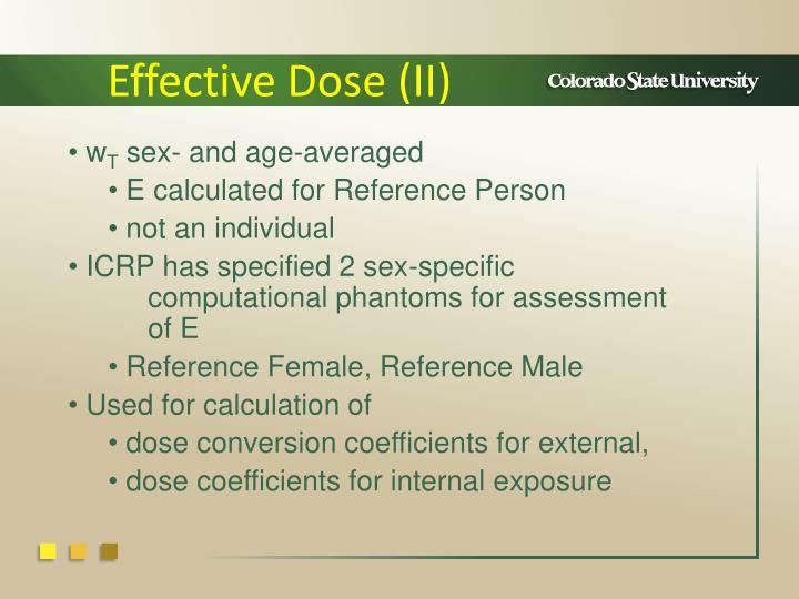 Effective Dose (II)