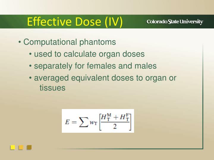 Effective Dose (IV)
