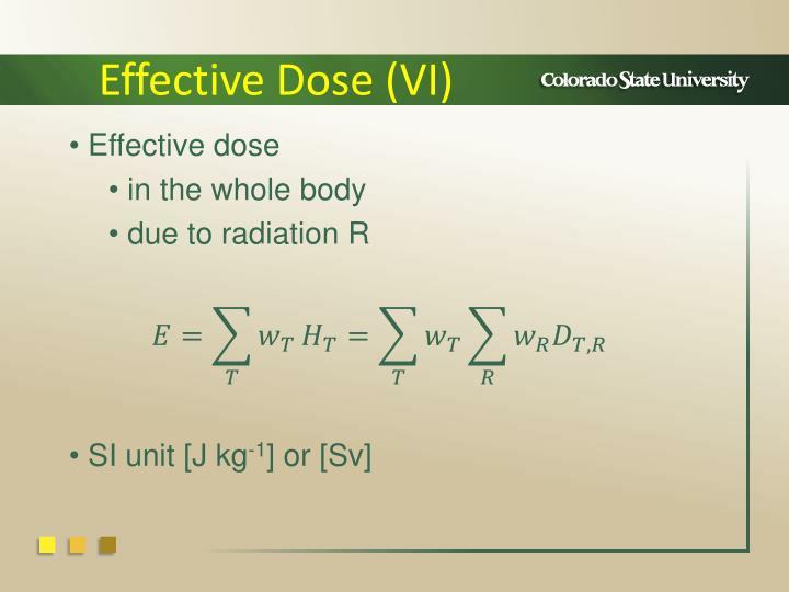 Effective Dose (VI)